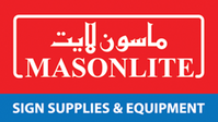 MASONLITE SIGN SUPPLIES & EQUIPMENT